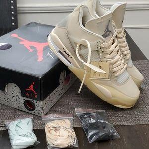 Nike Shoes - Off White Air Jordan 4 Retro